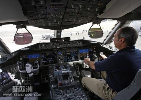 民航客机的驾驶舱