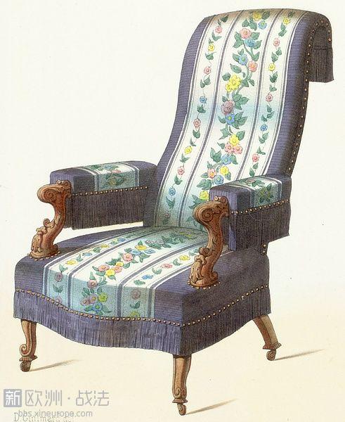 法国王室家具手绘图录 椅类 华丽丽的气场