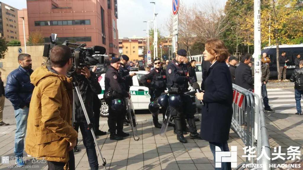 意大利媒体在现场
