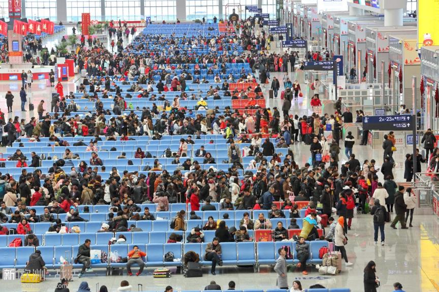 贵州铁路春运迎来客流返程高峰。  张德忠摄 人民图片