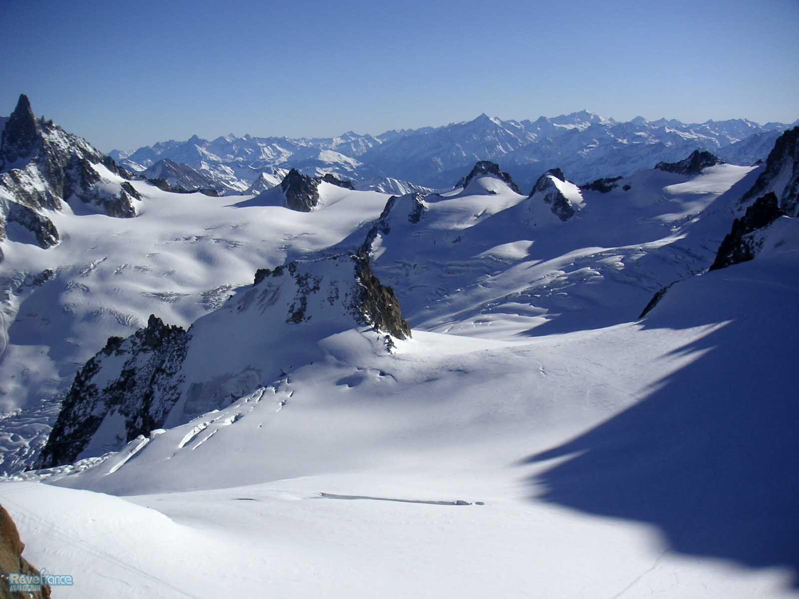 aiguille du midi-glacier du geant_vallee blanche冰川白色峡谷